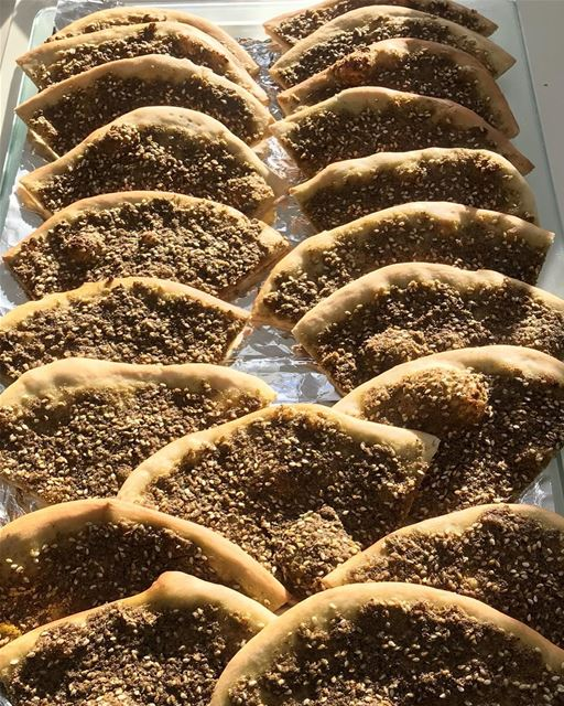 Nothing says home🏡 like the Smell of Za3tarino's Thyme Zaatar Pastries 👨‍