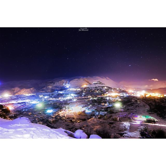 ehden  night  light  snow  longexposure  sky  beautifullebanon ...