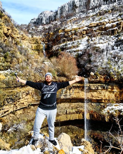 Hiking  SnowHike  Faraya  Waterfall  Lebanon wildernessculture  outdoors... (Faraya, Mont-Liban, Lebanon)