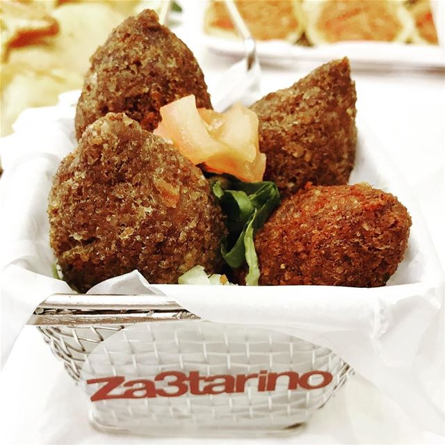 Za3tarino's Kibbeh made of bulgur (cracked wheat), minced onions, and...