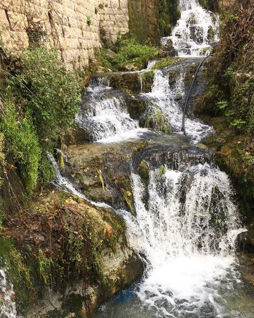 Happiness is listening to a waterfall 🤩  peterwenmaken ......... (Lebanon)
