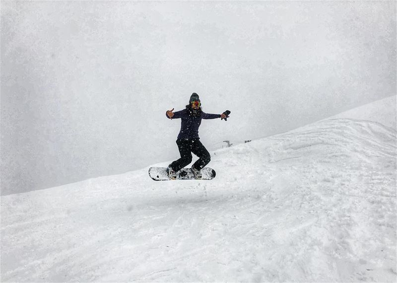 Sorry other sports but I have a favorite  snowboarding  snow  jumping ... (Cedars of God)