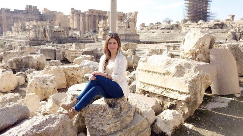 Charming girl in a charming place 😍😍😍📷 @malakkhodr25982  Baalbeck... (Baalbek , Roman Temple , Lebanon)