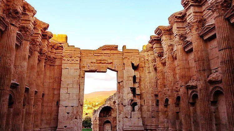 There's something interesting about huge door📷 @maro_an  Baalbeck... (Temple of Bacchus)