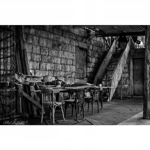old  lebanese  house  terrace  heritage  bnw  blackandwhite  local ... (جونية - Jounieh)