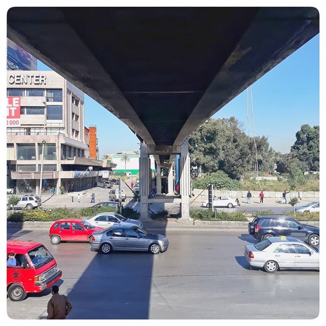 🇱🇧 Where are you ?! .. uglybeirut  uglycity  urban  transport  bridge... (Burj Hamud, Mont-Liban, Lebanon)