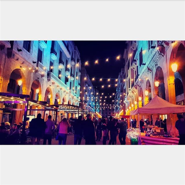 tb soukelakel beirut downtown dt citynights cityscape lights music... (Downtown Beirut)