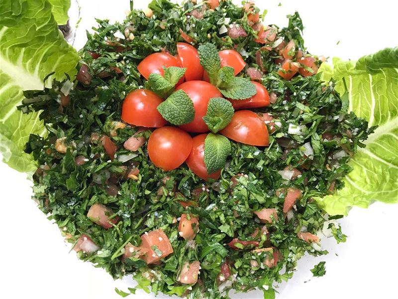 "Super fresh and healthy salad 🥗 ""Tabbouleh"" full of earthy flavours and..."