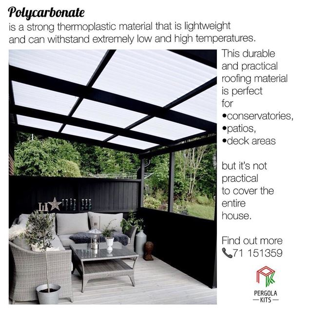 What is Polycarbonate?  PergolaKitsLebanon. Pergola  Polycarbonate ...
