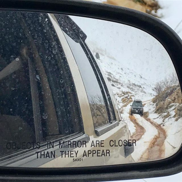 Objects in the mirror are closer than they appear. lebanon  lebanese ... (Akoura, Mont-Liban, Lebanon)