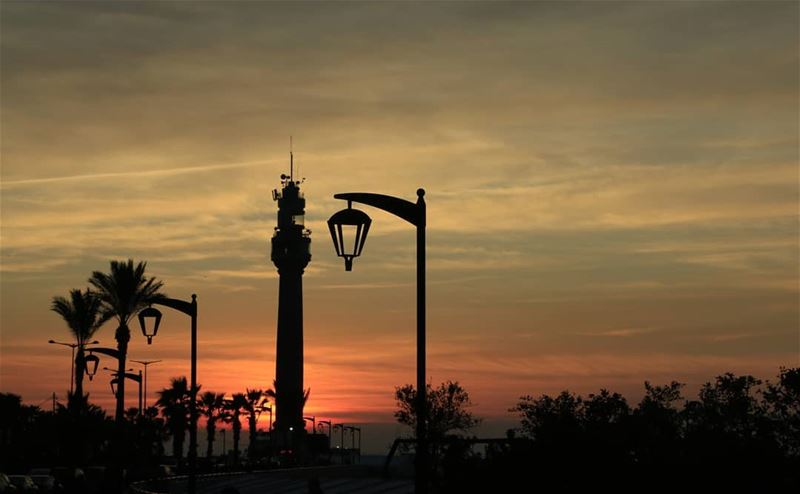 Sunset in Beirut has something special... Whether it is the Mediterranean... (Manara Beyrouth)