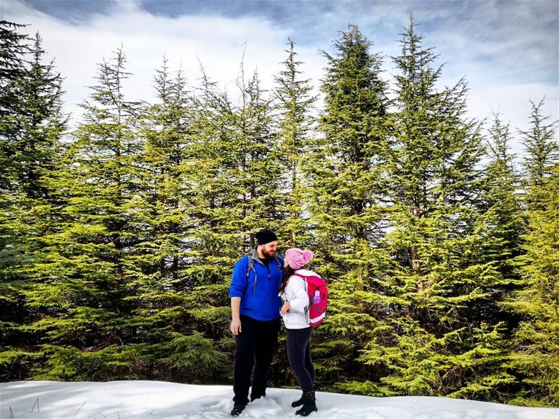 Our  Love Will Last Strong Through Years Like  Cedars ❤️🌲❄️ Hiking ... (Barouk Cedars)