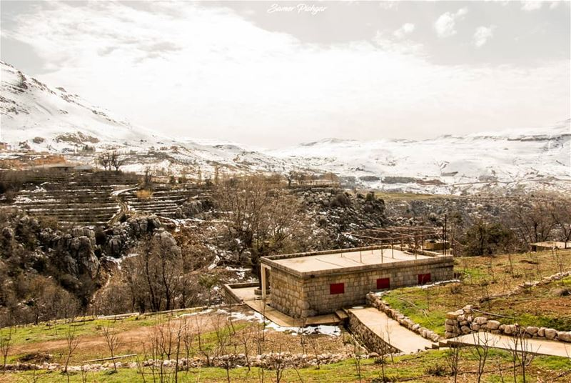 The house facing Mount Sannine.Mikhael Naime's house in Shokhroub -...