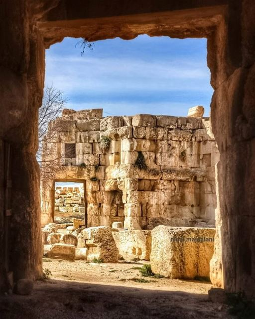 Let your eye wander through the gates of life till your mind reach... (Baalbek , Roman Temple , Lebanon)