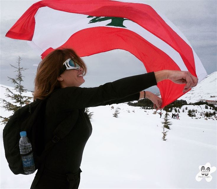 When you are proudly Lebanese🇱🇧wave your Lebanese flag 🇱🇧 Red ,white &... (Cedars of God)