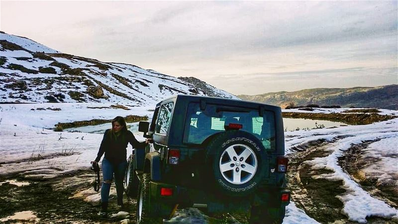 With all that i love...  lebanon  mountains  jeep  offroad  wrangler ... (Mount Sannine)