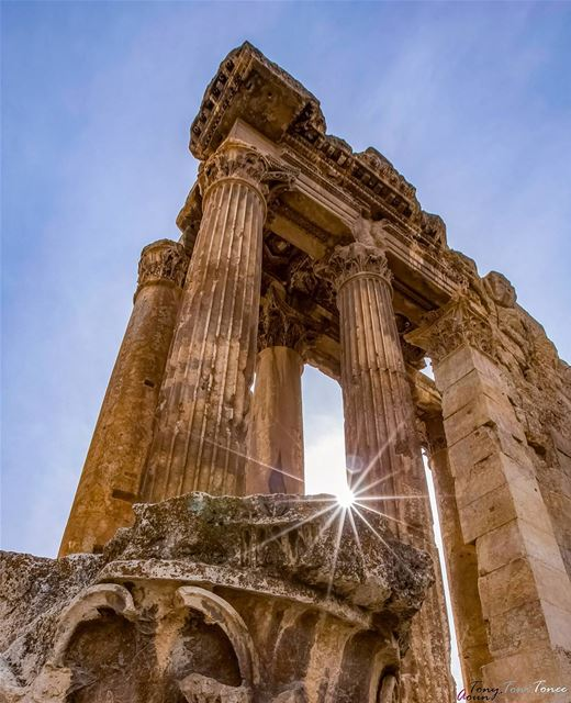 LOOK UP !!! Let the sunlight get inside your heart ... but always keep... (Baalbek, Lebanon)