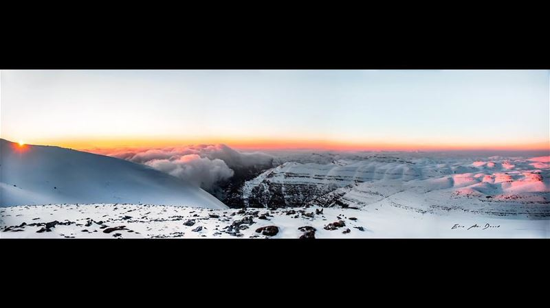My vantage point 👀  panorama  sunset  mountains  clouds  snow  wilderness...