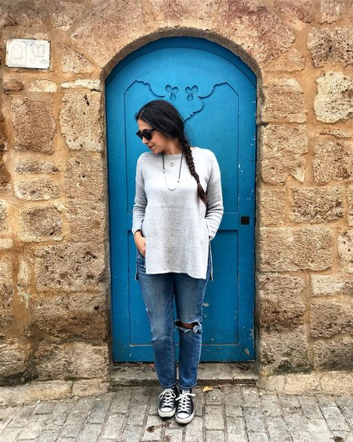 I did tell you I like doors 🚪💙... tripolilebanon  livelovetripoli ... (El Mina, Lebanon)