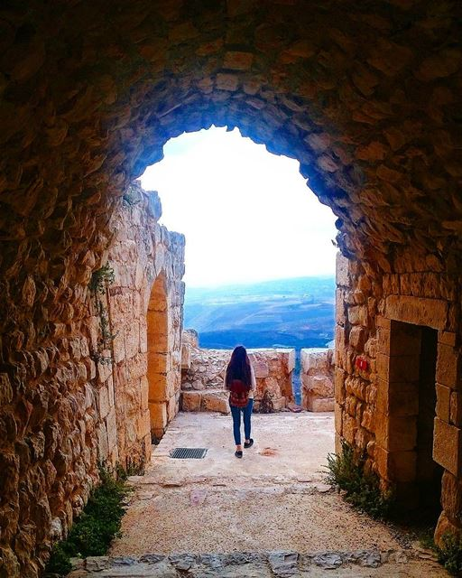 If you want light to come into your life you have to stand where it's... (Beaufort Castle, Lebanon)