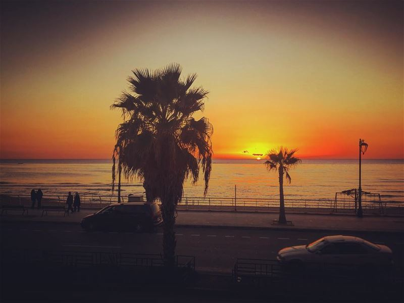 I just need you and some sunsets .. lebanon  beirut  ramletelbayda ... (Ramlat Al Bayda', Beyrouth, Lebanon)
