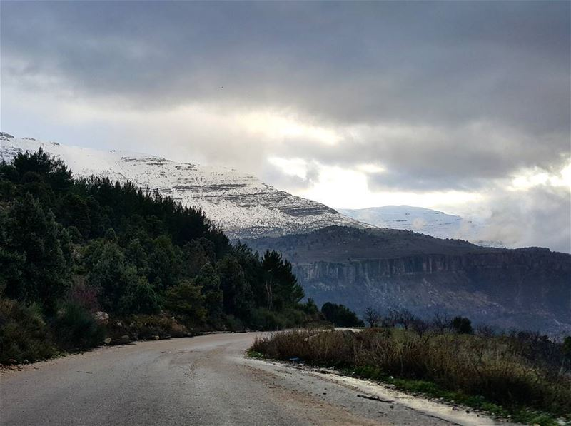 Who's up for a  roadtrip  lebanon  road  winter  middleeast ...