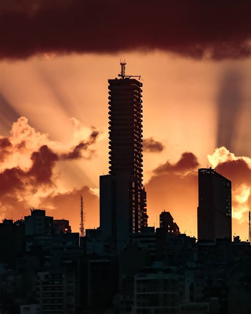Lebanon  Beirut  Winter  Weather  Sky  City  Clouds  Colors  Sunset ...