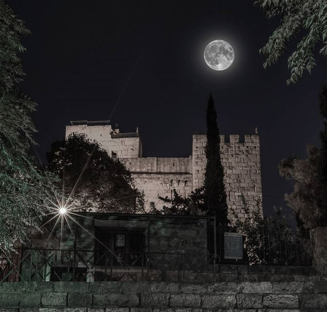 Since the beginning of time, this same moon inspired us humans to write... (Byblos, Lebanon)