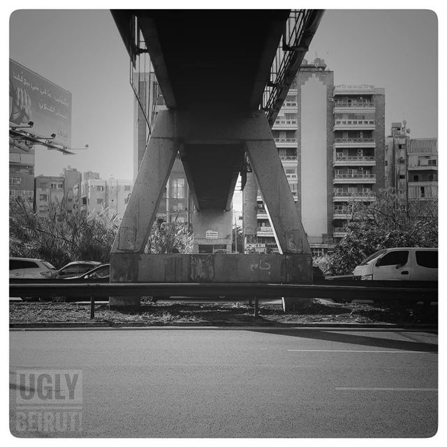 🇱🇧 The bridge... uglybeirut  beirut  lebanon  urban ... (Burj Hammud)