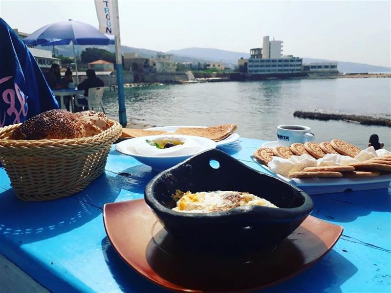 Our Lebanese Breakfast 😃Photo taken by @vanessafrem 🙂 lebanon  batroun... (RAY's Batroun)