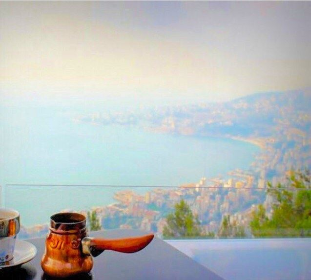 But first, coffee ☕️  MorningsLikeThis  LebaneseCoffee  LoveLebanon ... (Bay Lodge)