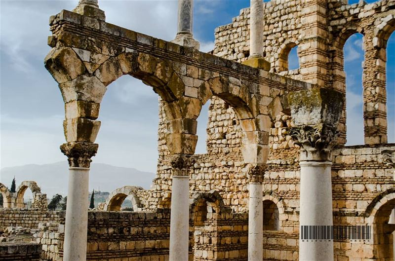 The city of Anjar was founded by Caliph Walid I at the beginning of the... (`Anjar, Béqaa, Lebanon)