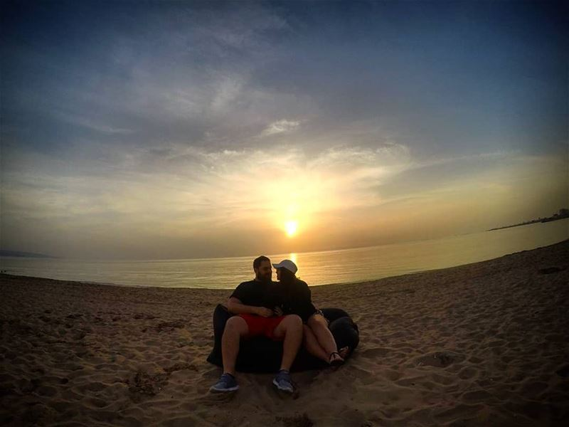 happiness is right next to you @marc_cherfan_369  sunset_pics  sunset ...