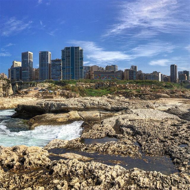 Once a year i post a panoramic view of Beirut city .. especially when the... (Beirut, Lebanon)