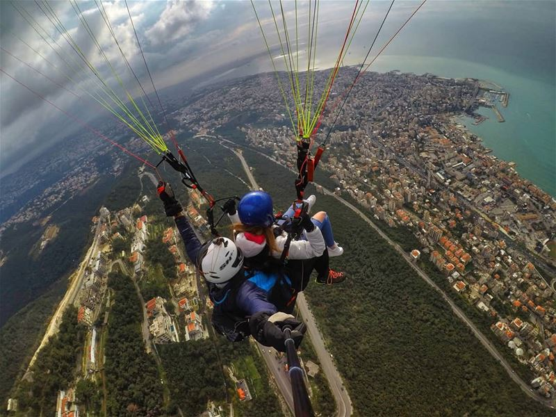 Higher and Higher and Higher. paragliding  tandem  jounieh  flying  gopro...