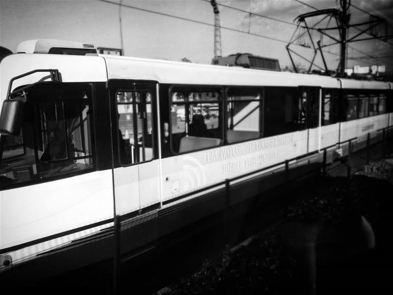 The tram -  ichalhoub in  Turkey shooting with a mobile phone...... ...