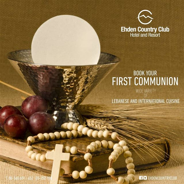 Book your kid's First Communion at Ehden Country Club! Wide Variety of... (Ehden Country Club)