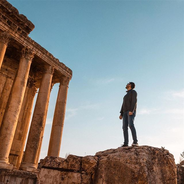 Baalbek - City of the Sun ☀️📷: @samerbsaibesofficial ...... Bacchus ... (Baalbek, Lebanon)