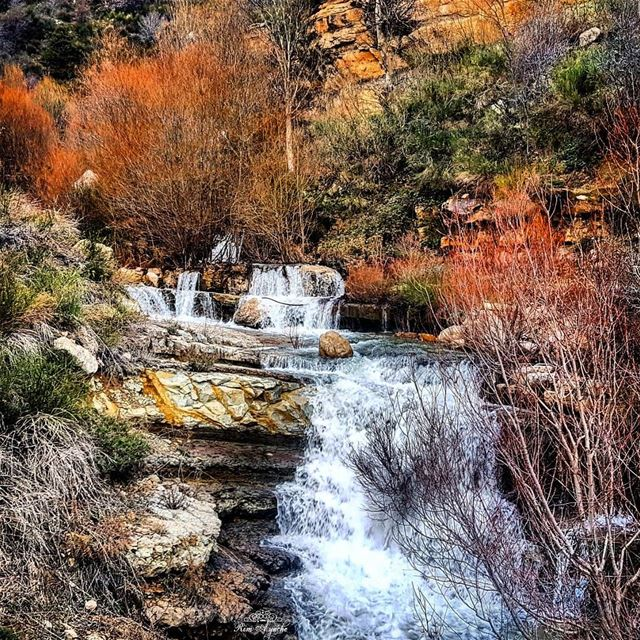 """Life is like a waterfall, it is always moving and there is always an..."