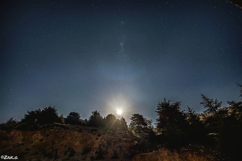 The Rise of the moon  moon  rise  nightview  stars  starchasing  star ... (Cedars Ground Campsite)