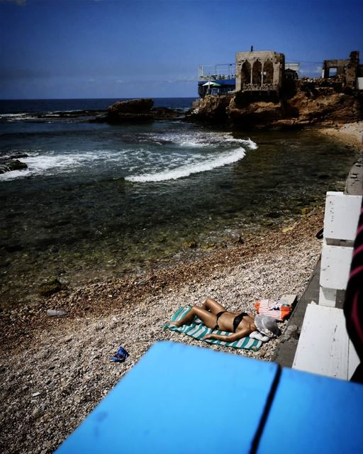 Longing for a tan -  ichalhoub in  Batroun north  Lebanon shooting with a... (Batroûn)