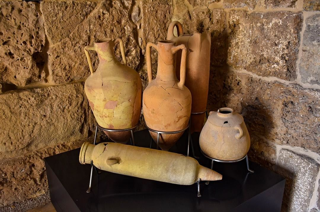 Phoenician Amphorae, Pottery from Roman, Iron Age, Persian and Hellenistic... (Byblos, Lebanon)