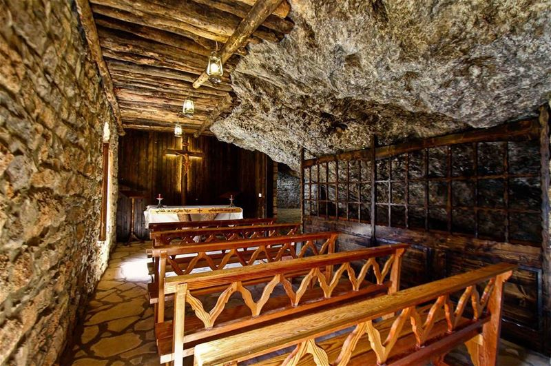 In-grotto Church 📜.... lebanon  bcharreh  bcharre  livelovebcharre ... (Kadisha Valley)