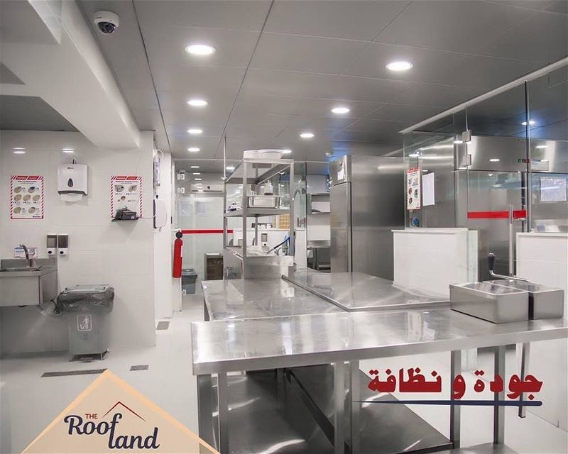 @theroofland -  Our shiny main kitchen serving you the best food quality!... (The Roofland)