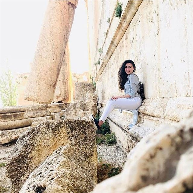 Behind her smile, there's a story you would never understand 😍😍😍📷 @rag (Baalbek , Roman Temple , Lebanon)