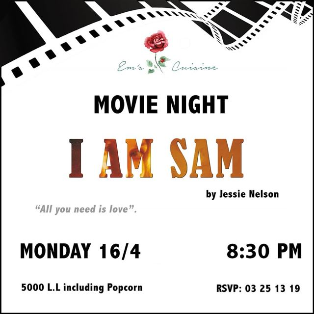 """All you need is Love"" Tonight is Movie Night at Em's! Film starts at 8:30P (Em's cuisine)"