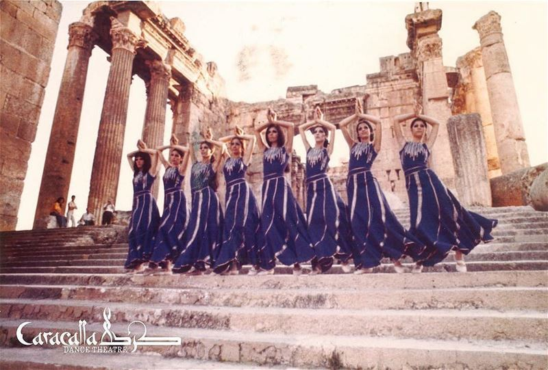📷 Repost from @caracalladancetheatre The Company in Baalbeck in 1972 💫... (Baalbek, Lebanon)