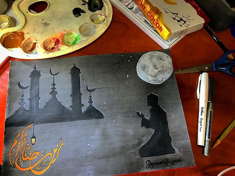 🖼✍🏼  ramadan_karim  ramadan2018  drawing  hand_drawn  painture  art ...