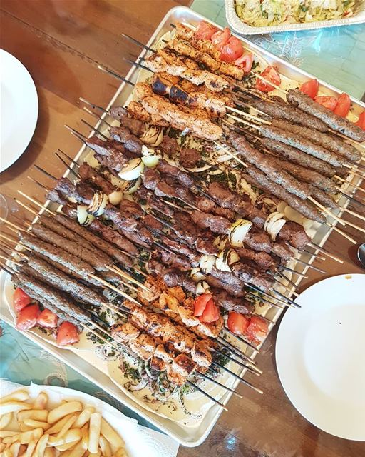 Lebanese Style Barbecue 🍢 Finally the sun is out ☀ thecookette ... (Greater Montreal)