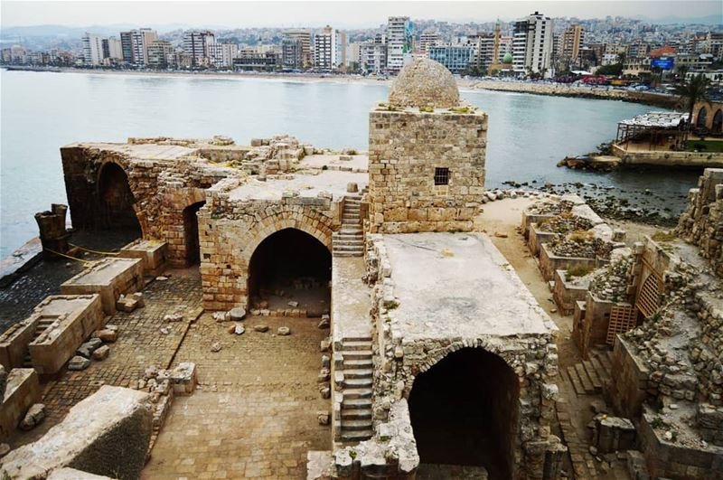 Sidon sea castle🇱🇧 sidon  seacastle seaside old history fort ...